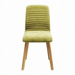 Chaise Velours Design : chaise scandinave verte lara kare design ~ Teatrodelosmanantiales.com Idées de Décoration
