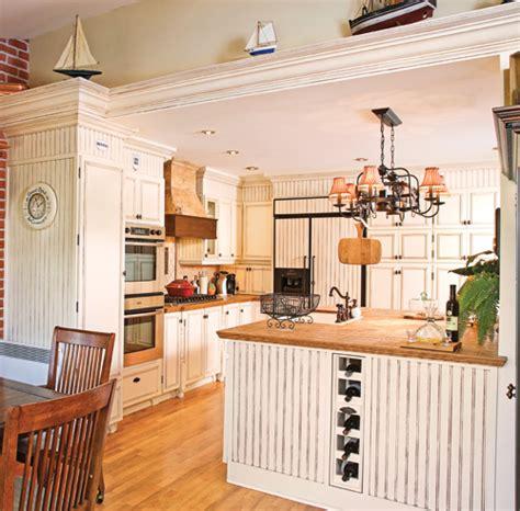 cuisine lambris cagne à l 39 ancienne cuisine avant après décoration