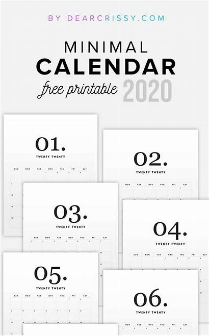 Calendar Printable Modern Minimal Printables Calender Dearcrissy