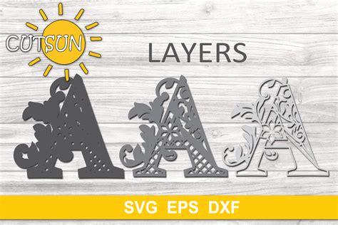 Download 3 d layered flower mandala svg cut file (710548) today! 3D Alphabet Layered Mandala SVG Bundle 26 letters
