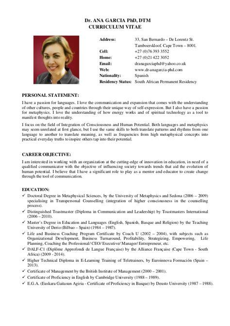curriculum vitae phd student 2016 dra garcia phd cv