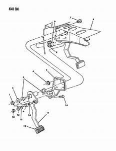 Dodge Dakota Pedal Assembly  Clutch  Pedal  Clutch 1990