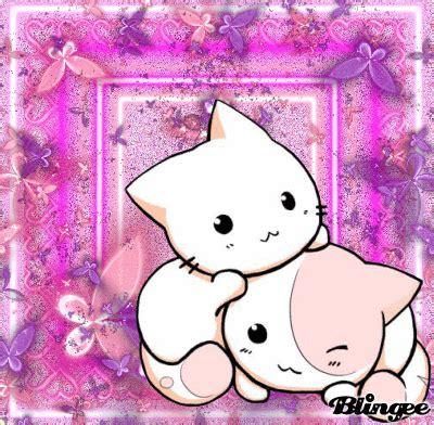 Pink Anime Cat