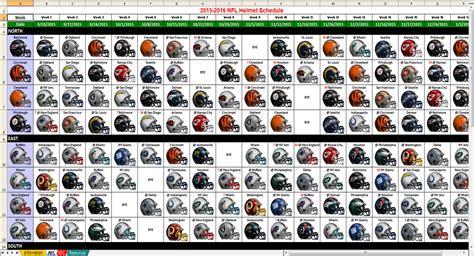 excel spreadsheets   nfl helmet schedule spreadsheet