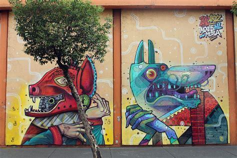 murals in mexico city aryz x saner new mural in mexico city streetartnews streetartnews