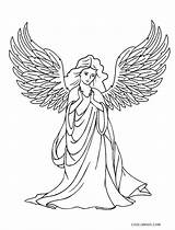 Coloring Angel Pages Printable Mary Adults Cool2bkids Visits Sheet Gabriel sketch template