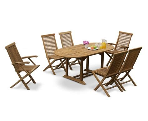 Patio Table And 6 Chairs by Brompton Outdoor Extending Garden Table And 6 Chairs