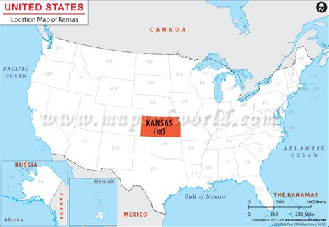 Where Is Kansas ? Location Map Of Kansas