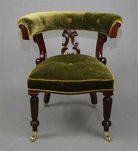 Antique, Victorian, Mahogany, Library, Chair