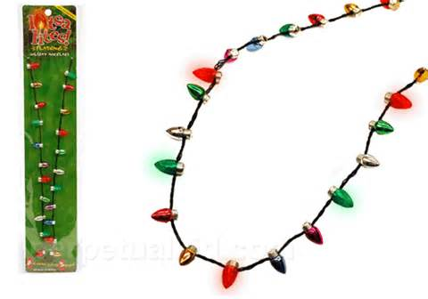 Flashing Christmas Tree Lights Necklace by Christmas Necklace Flashing Tree Lights Red And Green Led