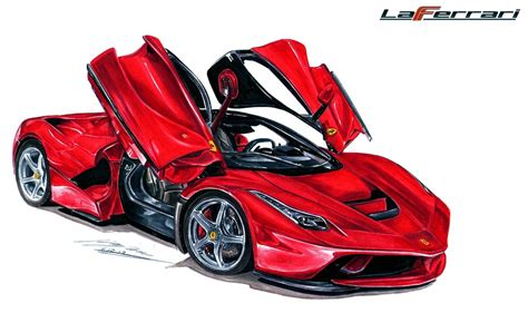 ferrari drawing ferrari laferrari drawing by toyonda on deviantart