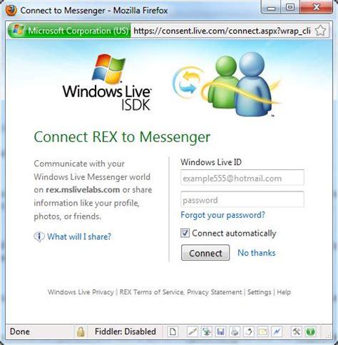 travelmarx windows live rest explorer messenger connect