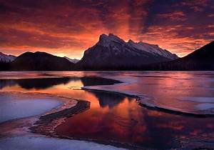 Snow Mountain Sunset Wallpapers