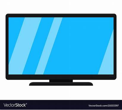 Cartoon Tv Modern Screen Vector Flat Clip