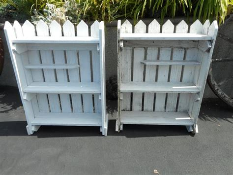 Reperposed Picket Fence Book Case Shelf Units Outside