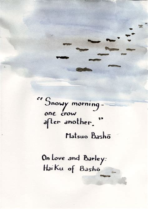 haiku matsuo japanese basho poems poem quotes poetry morning examples issa short snowy artist poemsearcher es
