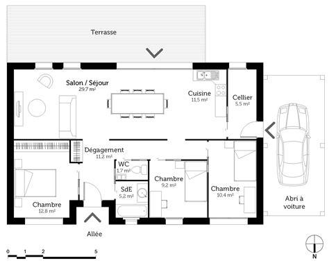 plan maison 1 騁age 3 chambres model de maison a 7 chambre maison moderne