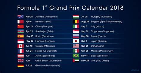 fia formula world championship calendar motorsport technology