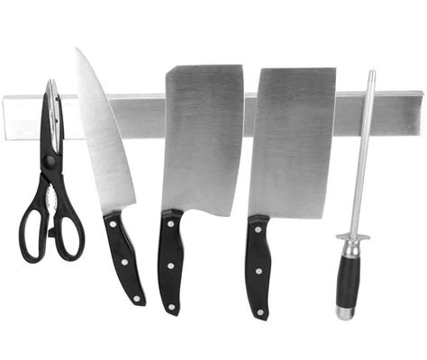 knife magnetic kitchen inch strips holder holders amazon stainless ouddy wood strip steel