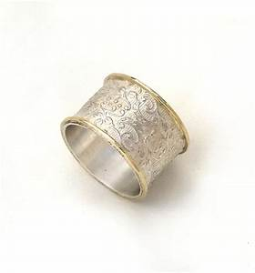 wide silver wedding ring flower and leaf pattern women39s With wide womens wedding rings