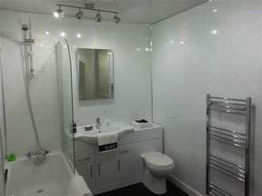 6 white sparkle gloss plastic cladding panels bathroom