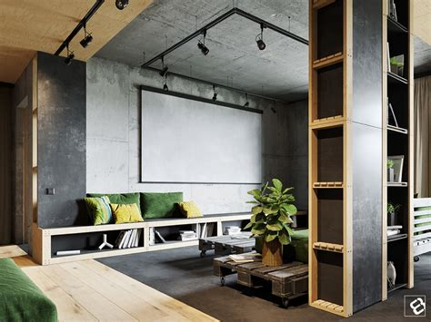 Industrial Home Style : Industrial Style Living Room Design