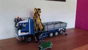 Lego Technic Camion : lego technic moc camion grue 2 youtube ~ Nature-et-papiers.com Idées de Décoration