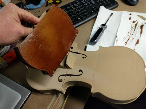 open source hovalin violin   printed  wood pla