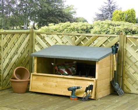 Wooden Garden Storage by Mercia Wooden Garden Storage Chest Garden Storage