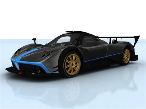 Pagani Zonda R 3d Model Animated Rigged Max