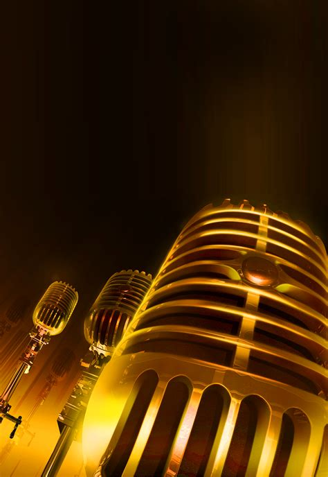 radio host singing competition poster microphone singing