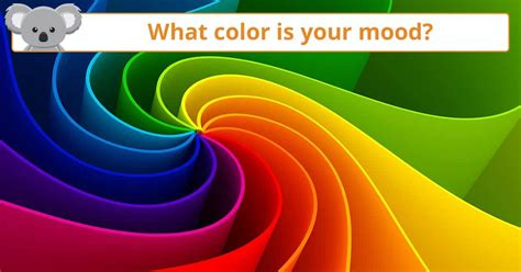 What Color Is Your Mood?  Koala Quiz