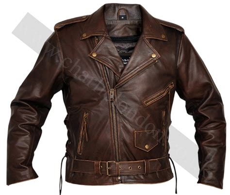 brown leather motorcycle jacket classic men s top grade brown biker motorcycle jacket