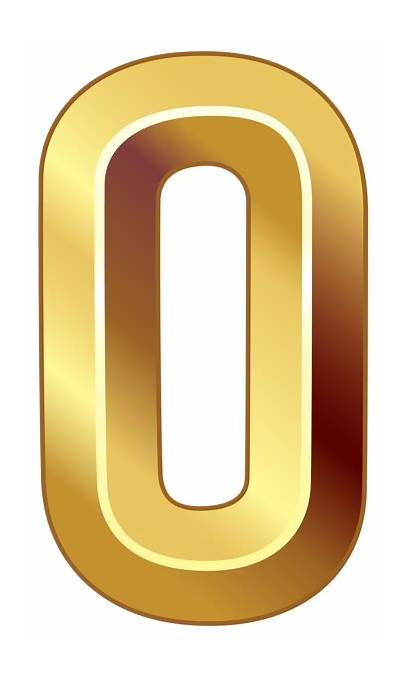 Numbers Number Gold Zero Clipart Transparent 70