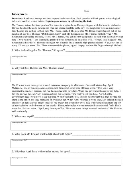 inferences worksheet 4 inferences worksheet 4