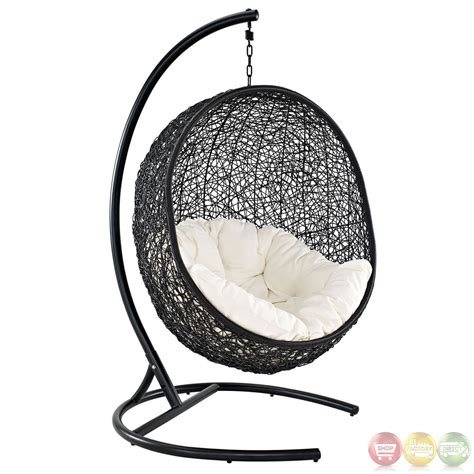 encase contemporary modern patio swing chair suspension