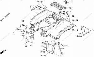 Honda Atv 1986 Oem Parts Diagram For Rear Fender