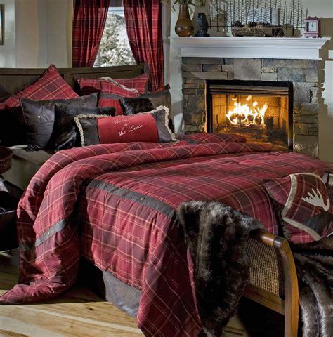 sagamore lake plaid  carstens lodge bedding