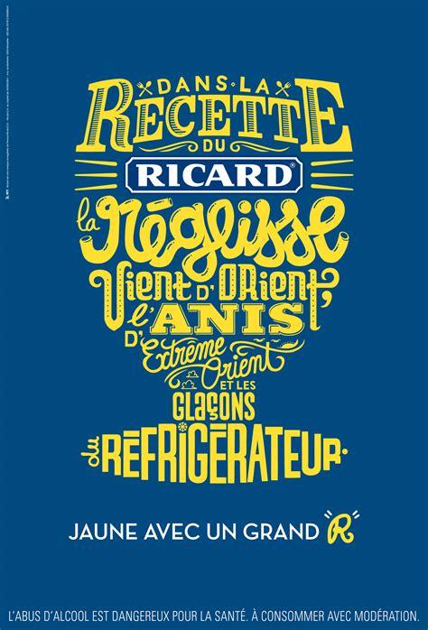 les affiches pub typographiques de ricard quot jaune avec un grand r quot la veilleuse graphique