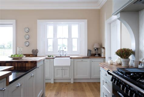 Handmade grey kitchen with walnut work surface, in Tipperary