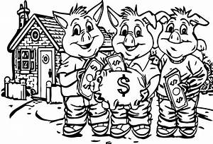3 pigs cover too money coloring pages wecoloringpagecom With switchcover3