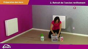 papier peint ou peinture comment preparer les murs youtube With preparer un mur avant peinture