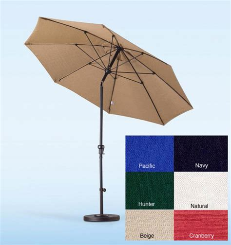 fiberglass olefin crank and tilt 9 foot umbrella outdoor