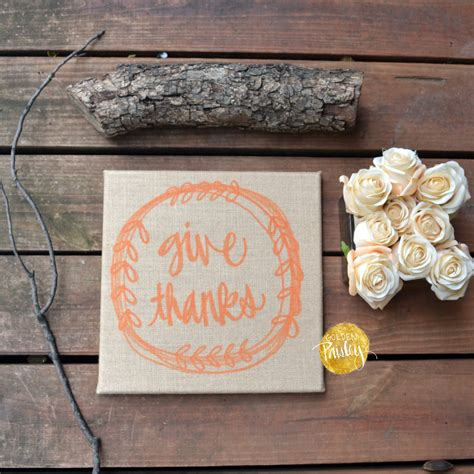 give thanks burlap thanksgiving sign