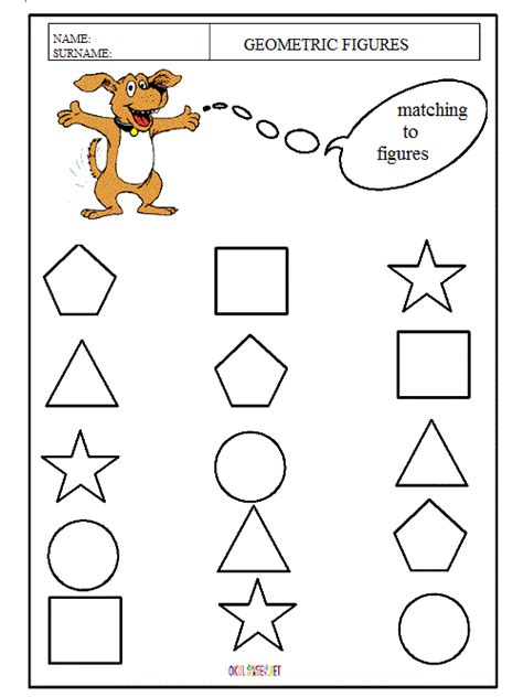 pre school education 704 | matching the geometric spaces worksheets for preschool kids 6