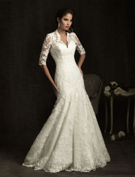 vintage lace wedding dresses with sleeves styles of