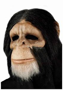 Scary Chimp Mask - Adult Discount Halloween Monkey Masks