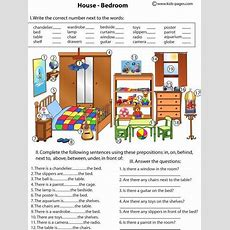 Bedroom And Prepositions Free  Kiddos  Literacyphonicsword Work  English Prepositions