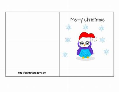 Christmas Printable Card Labels Owl Cards Merry
