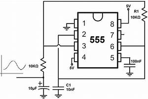 Sine Wave Generator Circuit With 555 Timer